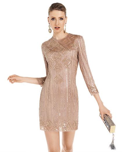 vestido de moda manga larga