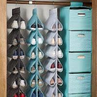 ideas para organizar el calzado en el ropero