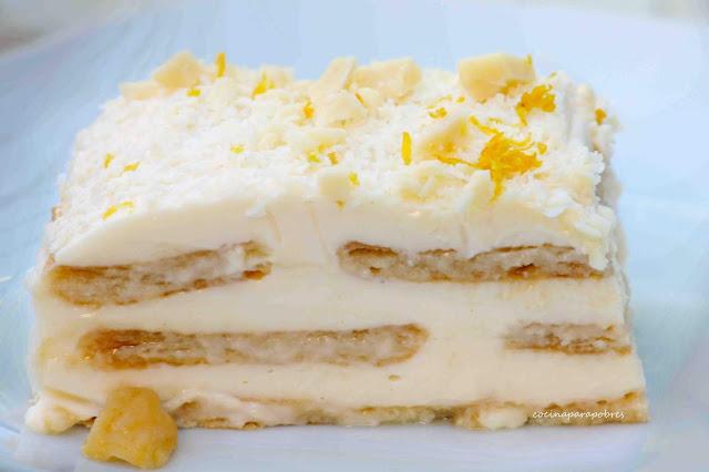 Tarta fría de limón y leche condensada