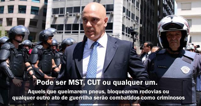 Novo Ministro da Justiça promete tratar com dureza ações violentas do  MST, CUT e outros movimentos de esquerda