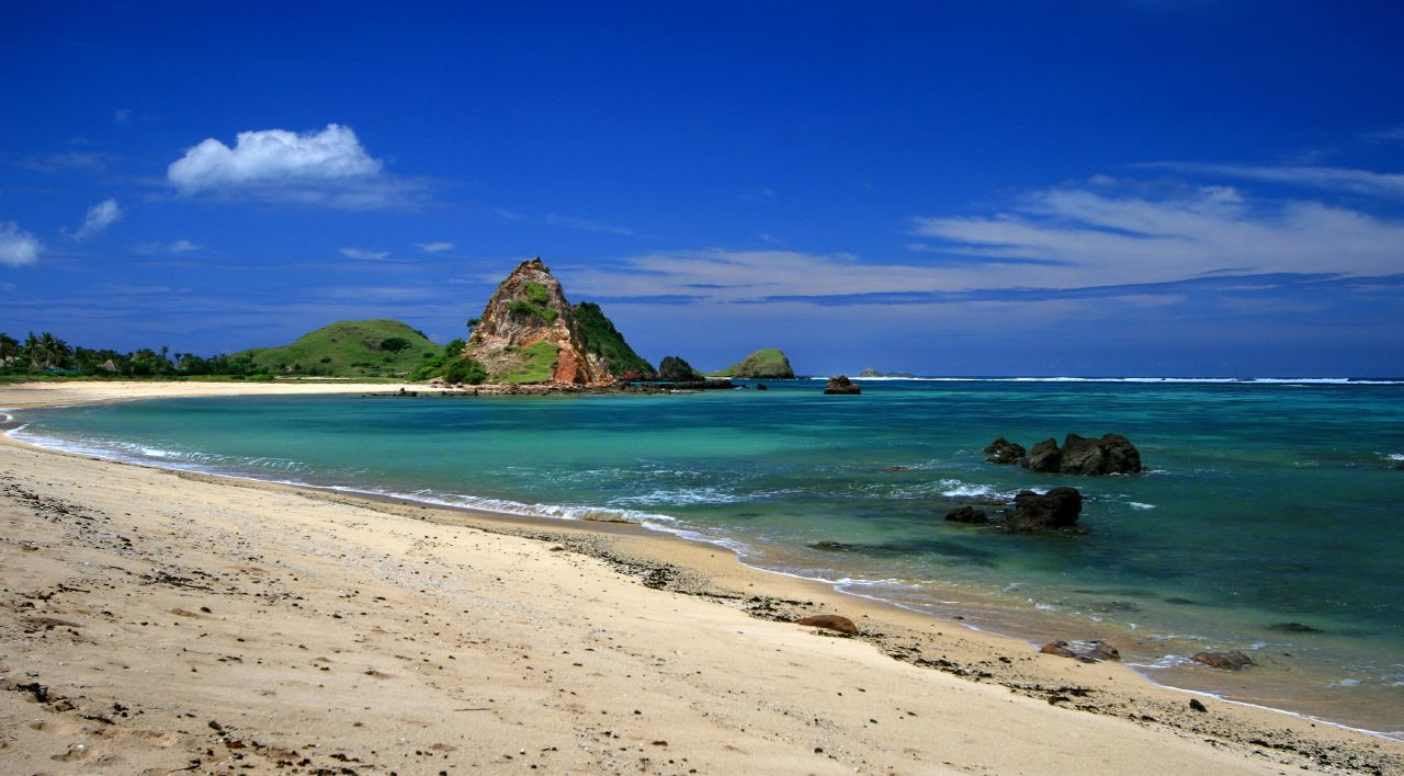 Senggigi Beach in Lombok, not in Bali