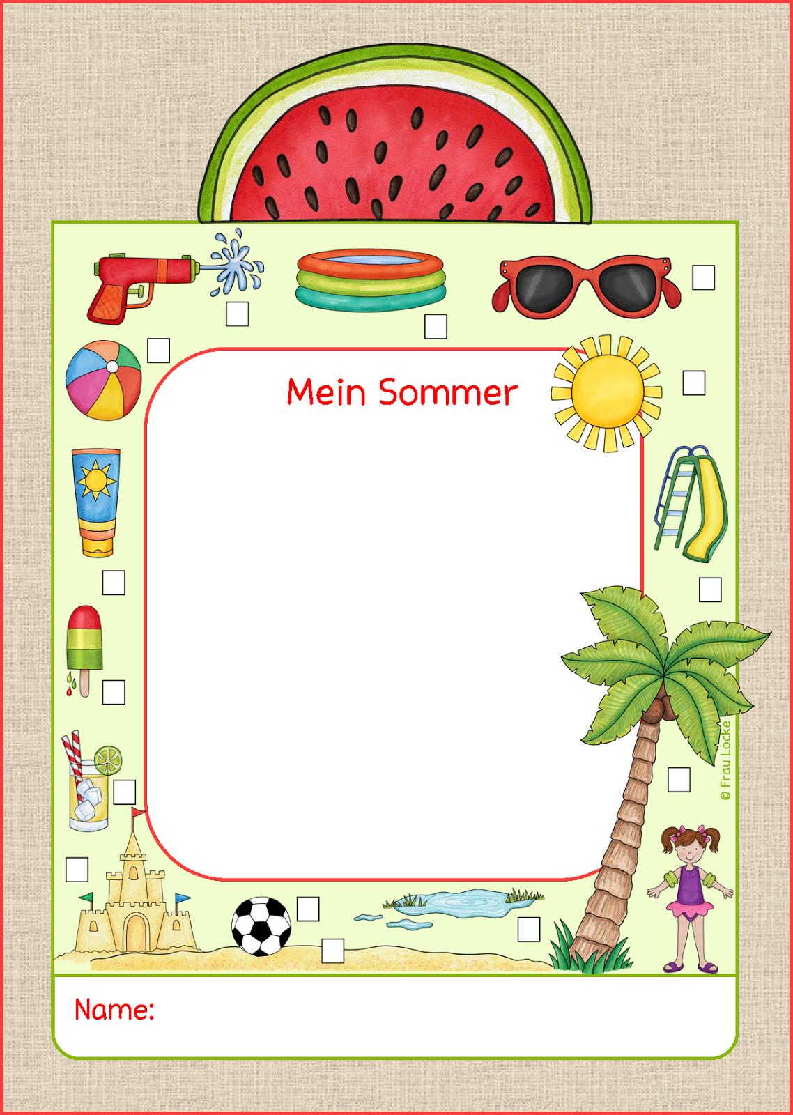 frau locke sommer  erzählkarte