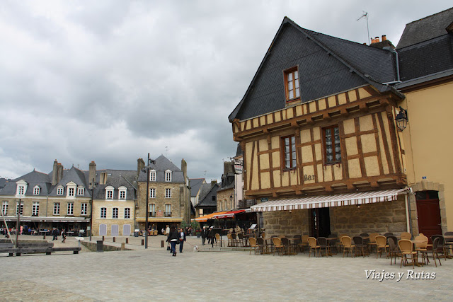 Casas de Auray, Bretaña, Francia