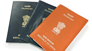 Photo: Orange cover Indian Passport for ECR category
