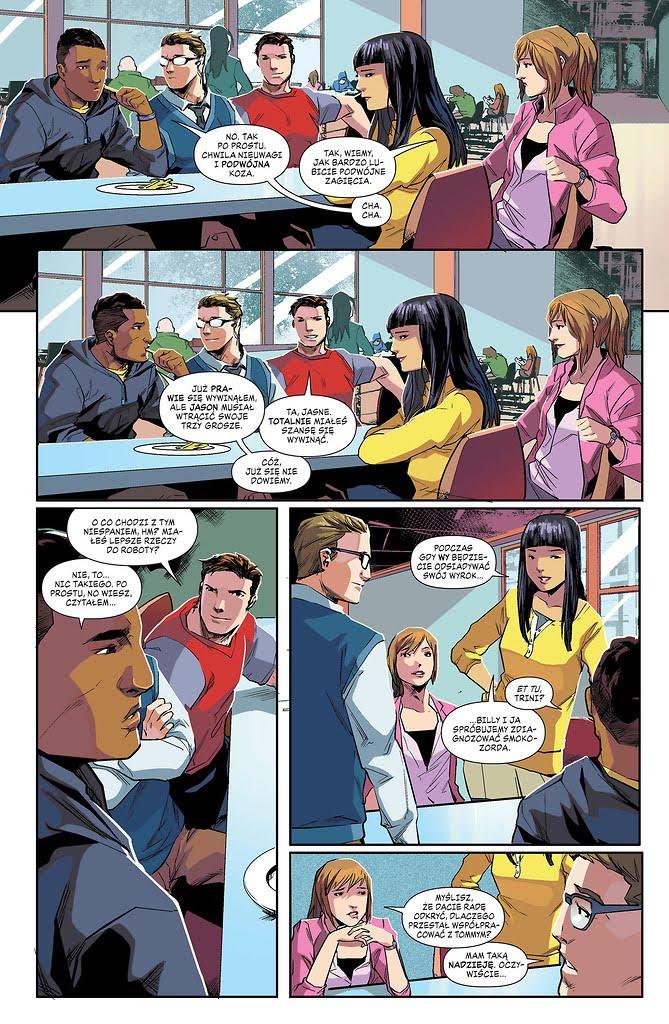 Mighty Morphin Power Rangers. Rok pierwszy przykładowa strona
