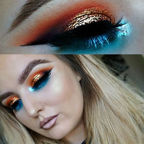 Colorful and bold makeup eyeshadow ideas
