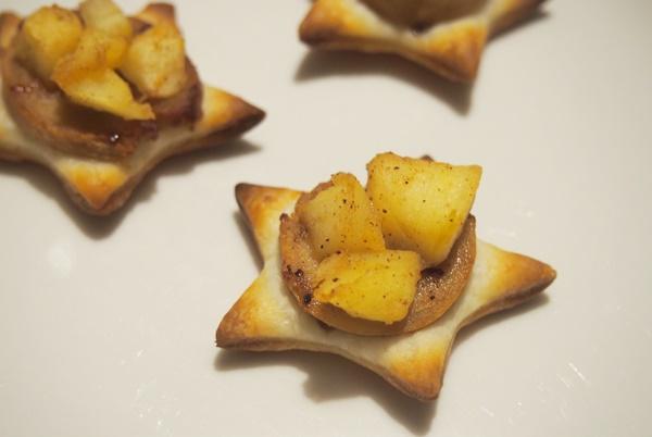 Recette : feuilletés boudin pommes