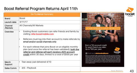 Boost Mobile Referral Program