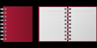quaderno a righe di grammatica italiana