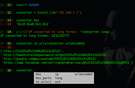 Cuteit v0 2 1 - IP Obfuscator Made To Make A Malicious Ip A Bit Cuter