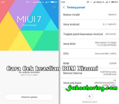 Cara Cek keaslian ROM Xiaomi Terbaru 2018