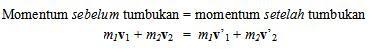 Hukum kekekalan momentum gambar 3c