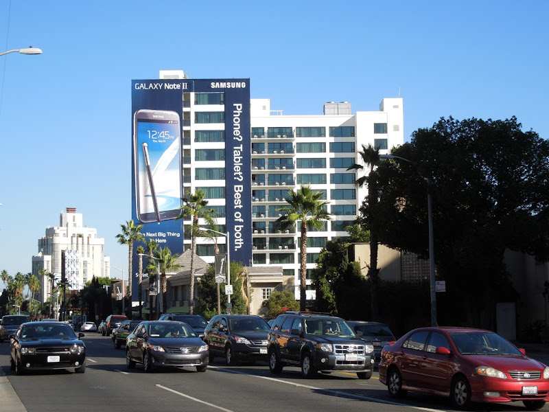 Samsung Galaxy Note 2 billboard Sunset Boulevard