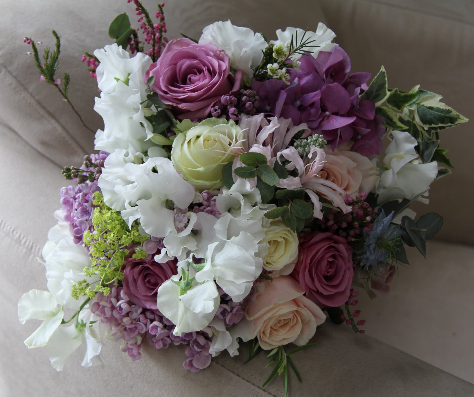 Wedding Flowers Lilac: The Flower Magician: Victorian Lilac Wedding Bouquet