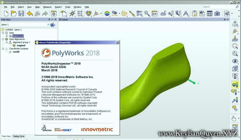 InnovMetric PolyWorks Metrology Suite 2018 Full key, Phần mềm hỗ trợ đo lường tốt nhất.