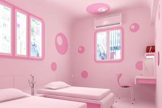 Dormitorio doble rosa niñas