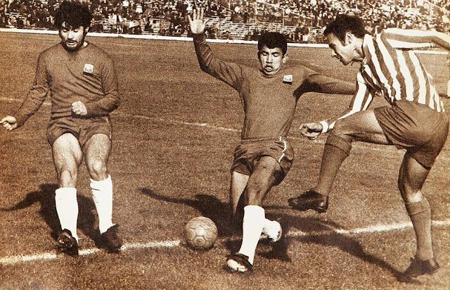 Chile y Paraguay en partido amistoso, 6 de julio de 1969