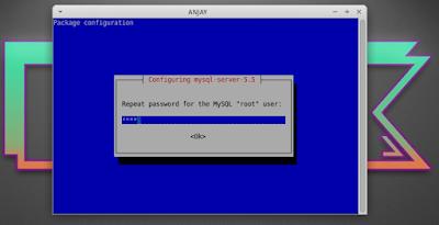 masukkan password root kembali