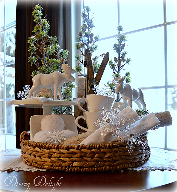 Dining delight how to create seasonal displays in a tray for Home decorations after christmas