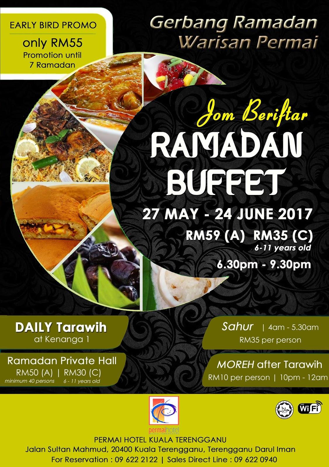 Buffet Ramadhan permai hotel Terengganu 2017