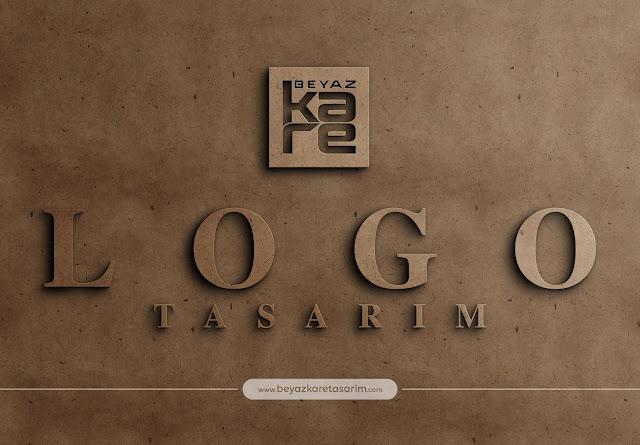 3D logo tasarımı kraft karton kabartma