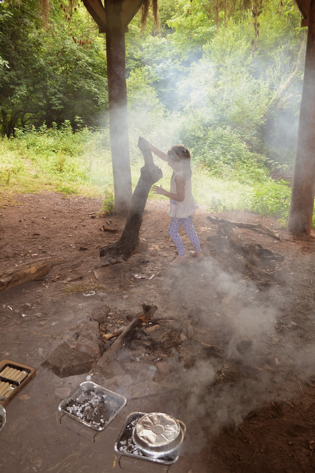 , The Charcoal Challenge- Hot Dogs in the Wild Woods!