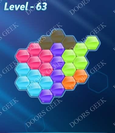 Block! Hexa Puzzle [6 Mania] Level 63 Solution, Cheats, Walkthrough for android, iphone, ipad, ipod