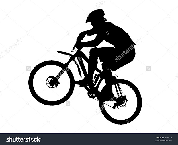Jump With Mountain Bike Vector