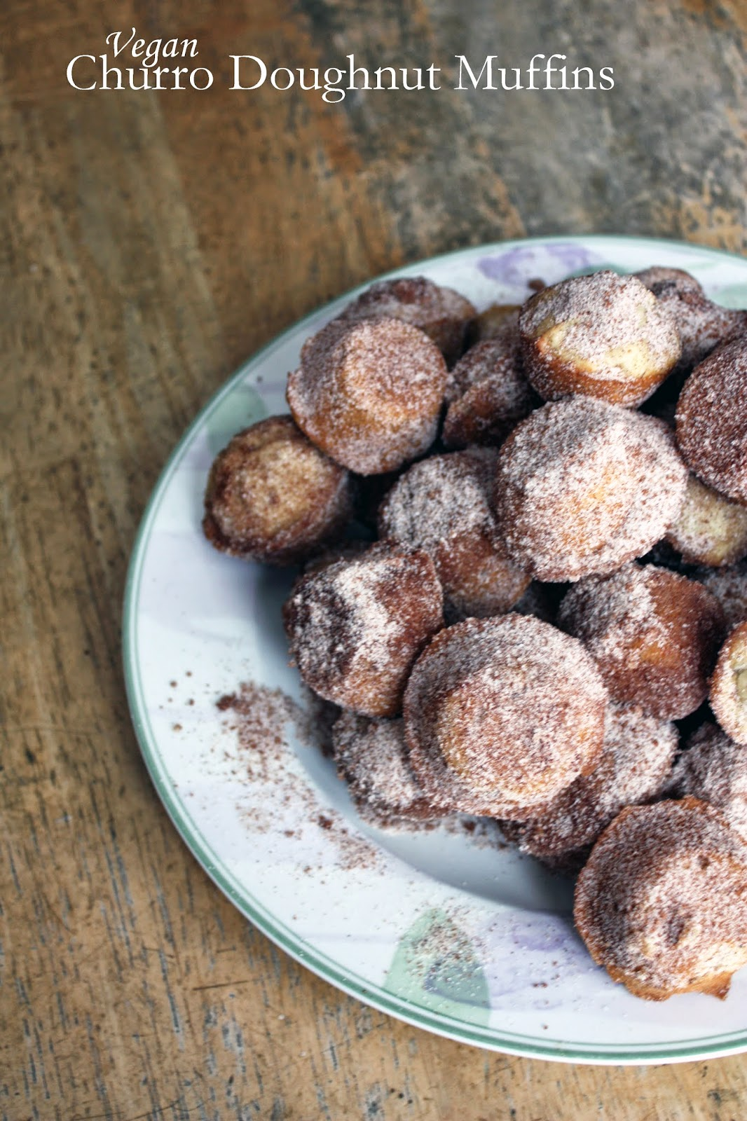 rich and thick spiced hot chocolate with churro doughnut muffins