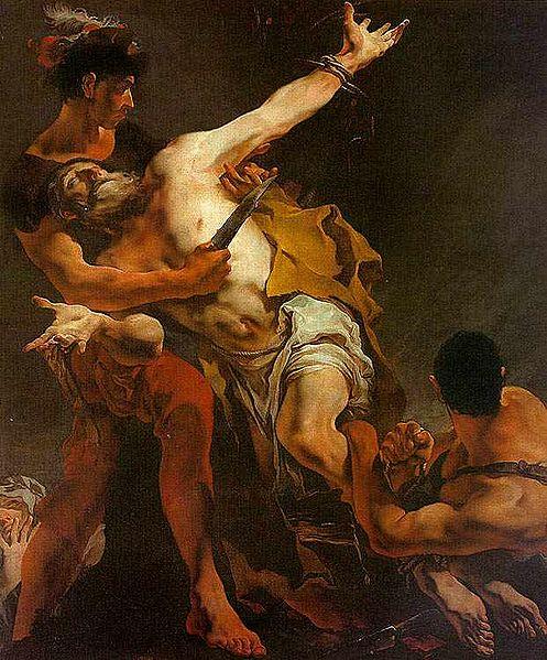 Le martyre de Barthelemy par Giambattista Tiepolo