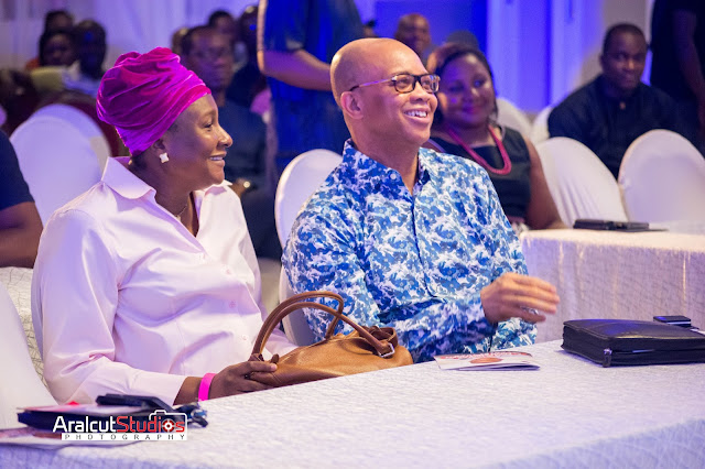 Ben Akabueze with Wife @ Senior Brethen Comedy Show