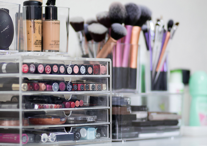 Fresh Lengths: Beauty | Acrylic Makeup Storage
