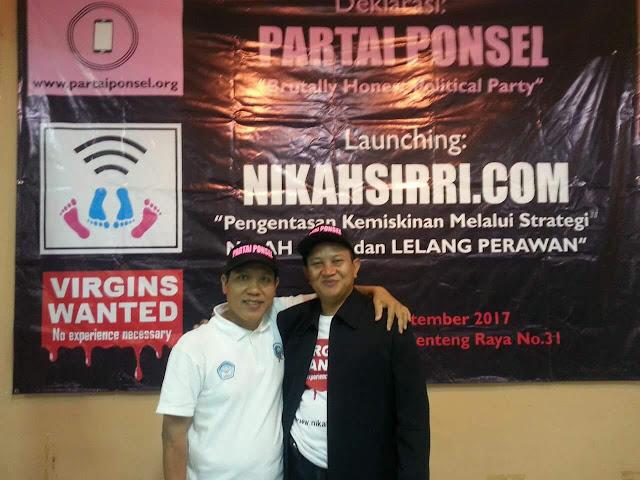 Astagfirullah, Partai Ponsel Entaskan Kemiskinan dengan Layanan Nikah Sirri