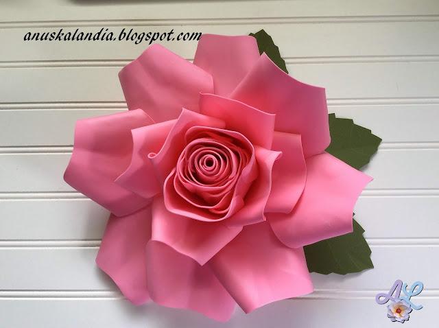 Rosa Gigante Goma Eva