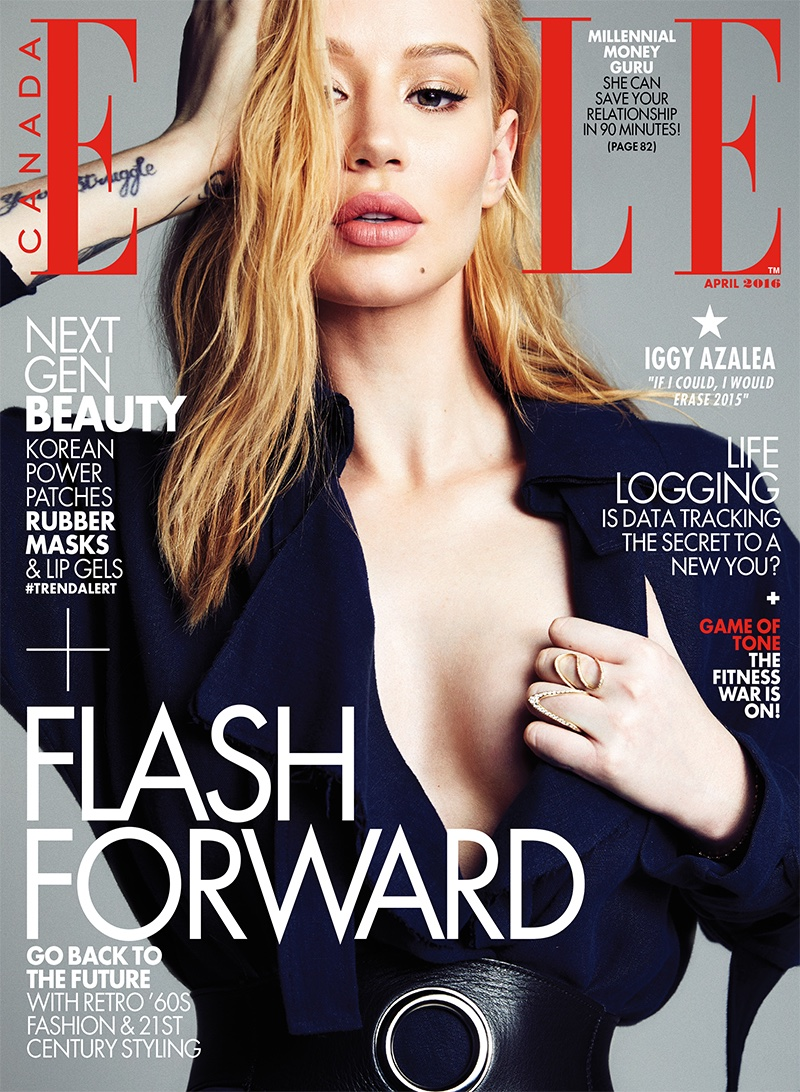 Iggy Azalea covers Elle Canada April 2016