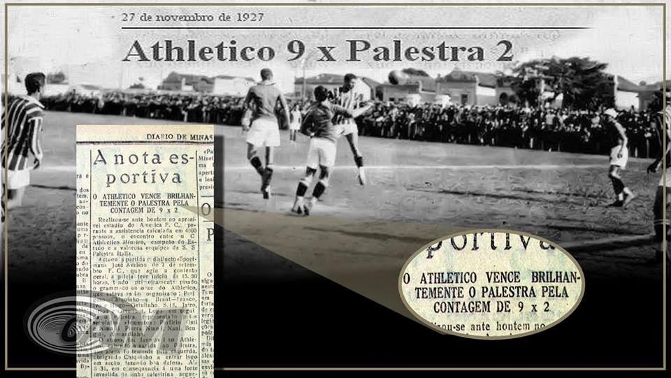 Andei pesquisando as maiores goleadas existentes na história do atual maior  clássico de Minas Gerais (Atlético x Cruzeiro) e listei as 13 maiores  aplicadas ... 4d05262d193b9
