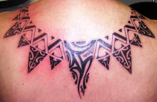 Estes tribal maori colar de tatuagens