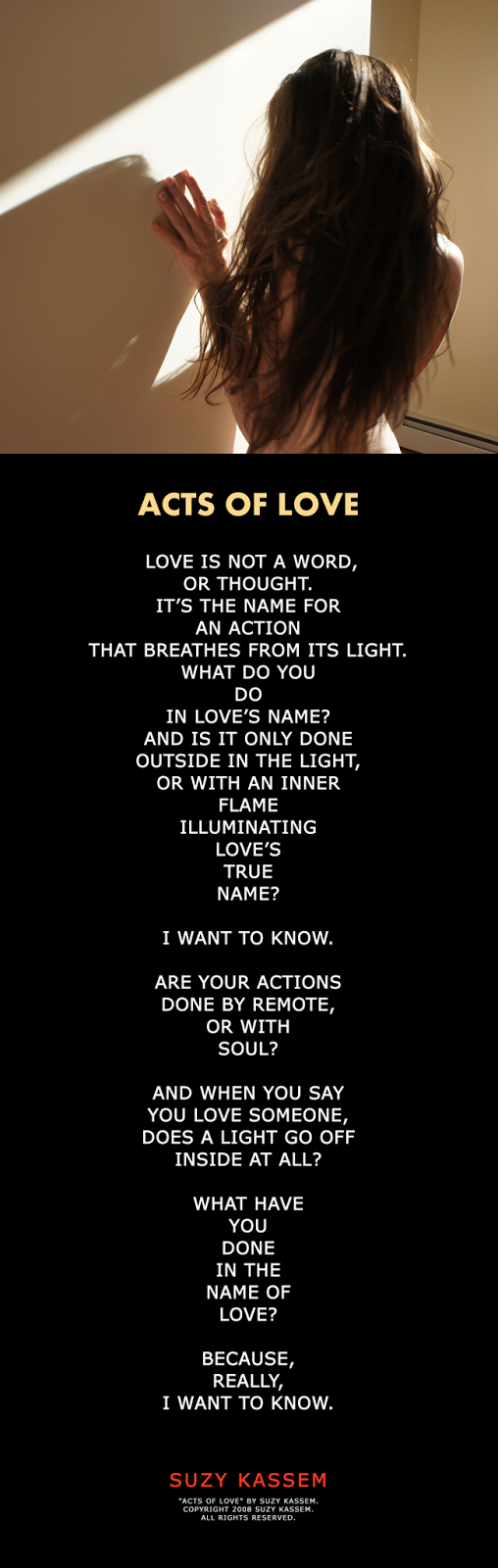 Acts of Love Poem