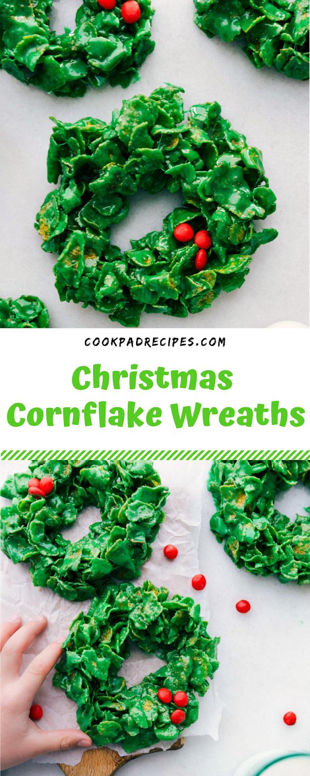 Christmas Cornflake Wreaths #Christmas #Cornflake #Wreaths