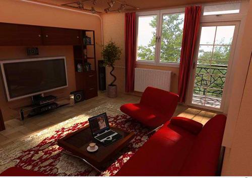 Phòng khách của Nhà nghèo Designrumahid com