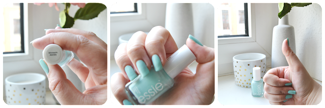 Essie, Blossom Dandy, Swatch, Dupe, Mint Candy Apple, Nagellack, Nailpolish, Mint, Nailvarnish, Nail lacquer, nail polish