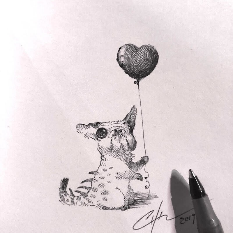 12-Bobby-Chiu-Fun-and-Cute-Ink-Fantasy-Animals-www-designstack-co