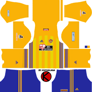 Vegalta Sendai ベガルタ仙台 kits 2018 - Dream League Soccer Kits