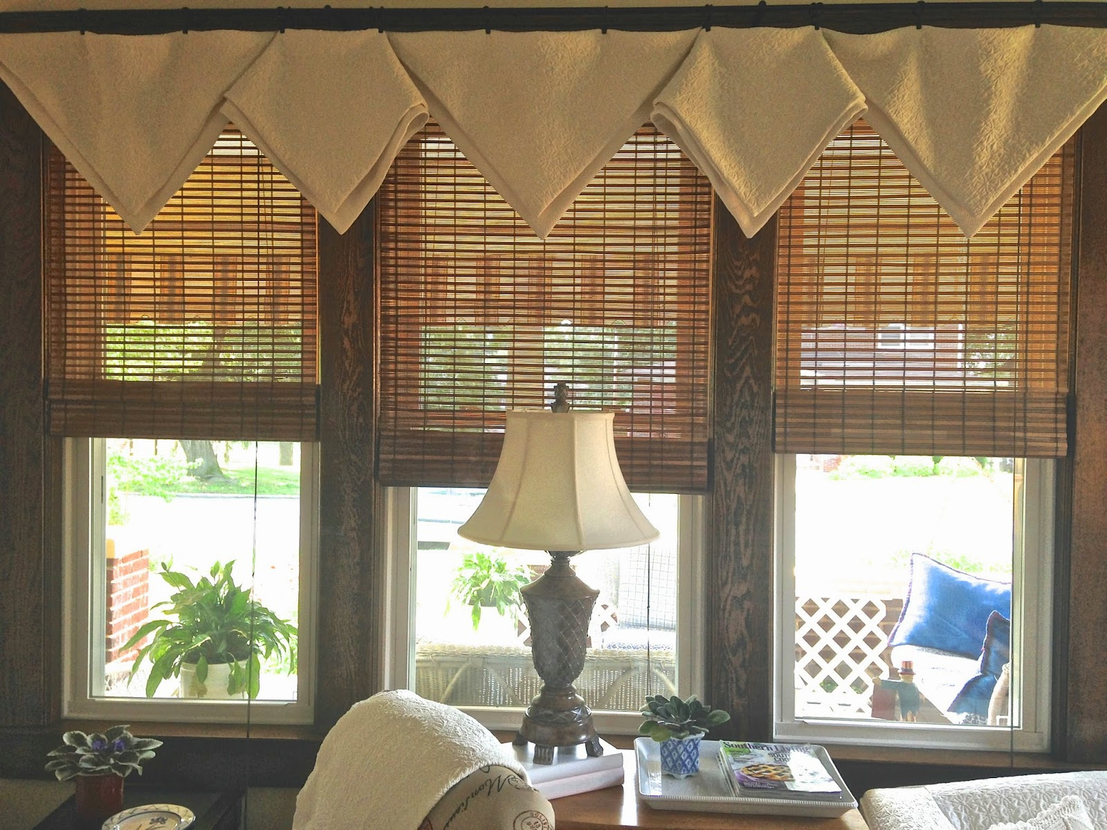 Days at buttermilk cottage simple new window treatment - Living room picture window treatments ...
