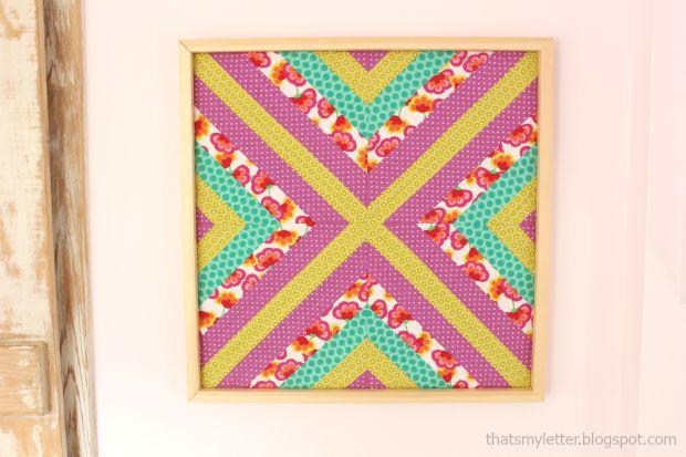diy framed wall quilt