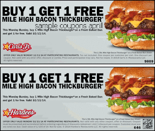 Hardees coupons april