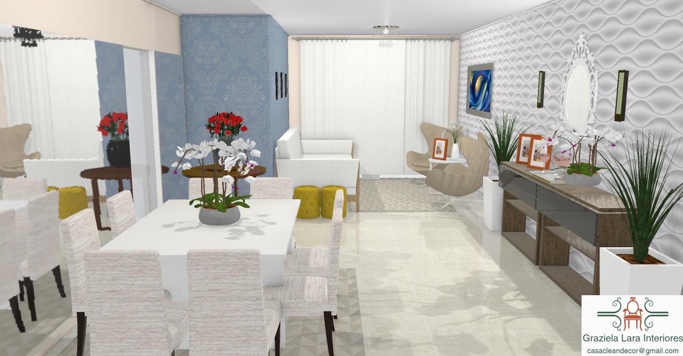 Construindo Minha Casa Clean Consultoria De Decora O Das Salas  -> Sala De Estar Apartamento Decoracao