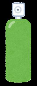 スプレーのイラスト(緑)