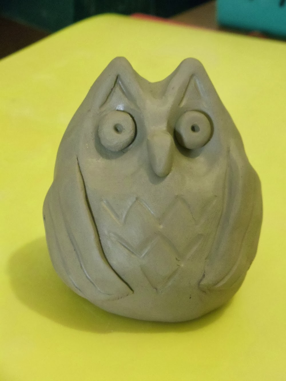 How to make a clay owl
