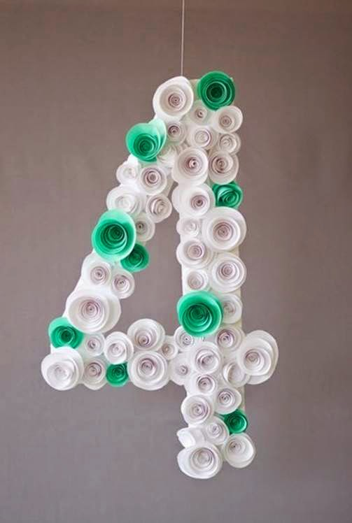 Tutorial How To Make Spiral Flower Number Party Decoration